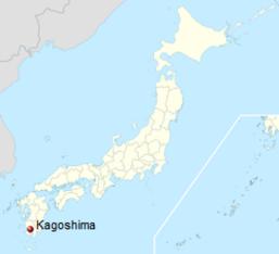 kagoshima na mapie Japonii