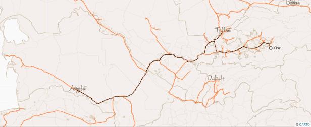 Trasa Osz - Aszchabad